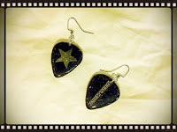Star Wars Guitar Pick Earrings (back)
