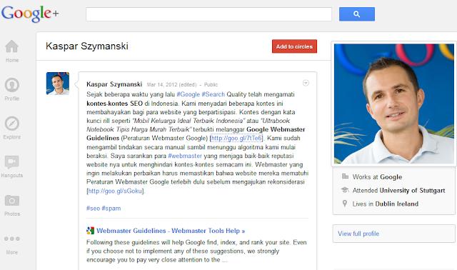 Diskusi Kontes SEO di Indonesia melanggar Peraturan Webmaster Google