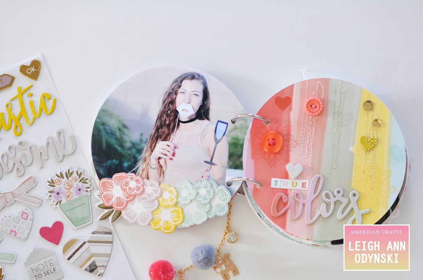 Artful Leigh American Crafts Design Team Mini Album And Video