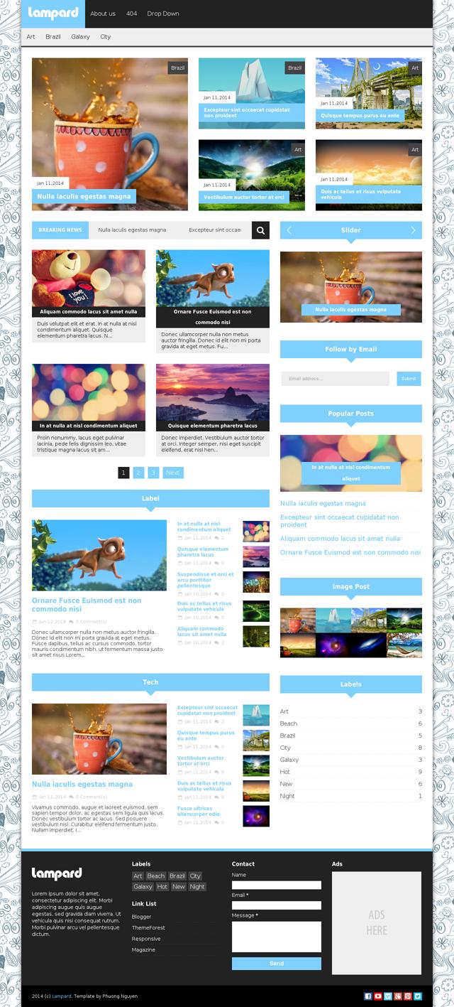 premium responsive blogspot template