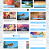Responsive News or Magazine Blogger Template