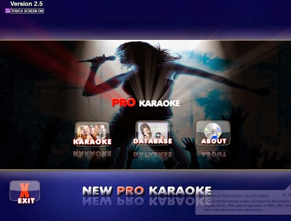 Pro Karaoke v.2.5 Touch Screen