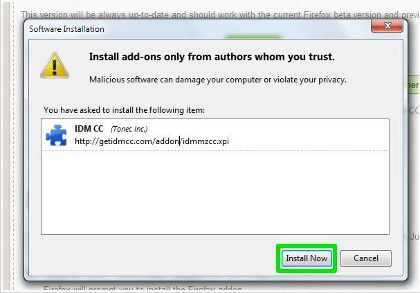 Cara Memasang Add ons IDM di Mozilla Firefox