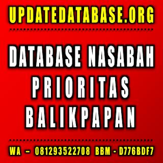 Jual Database Nasabah Prioritas Balikpapan