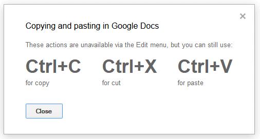 Google Docs and Clipboard Access