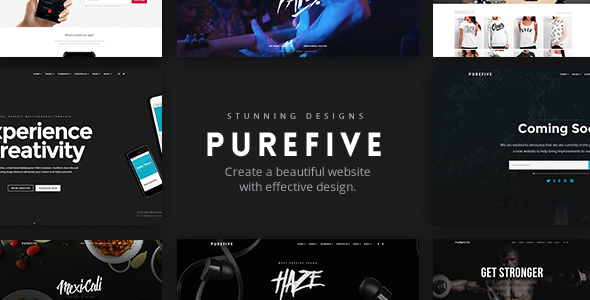 Download Purefive - Multipurpose HTML5 Template