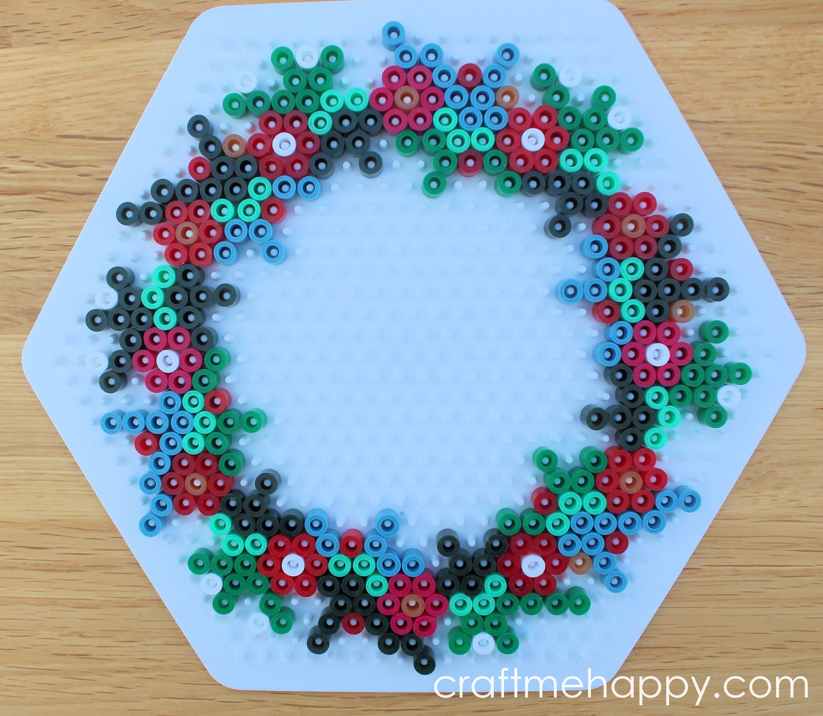 Christmas Hama Bead Designs.Craft Me Happy Hama Bead Christmas Wreath