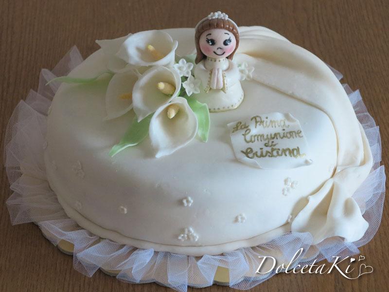 Cool torte prima comunione bambina us57 pineglen for Decorazione torte prima comunione