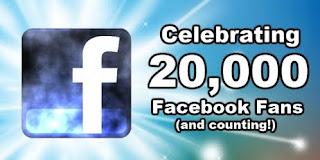 20,000 Facebooks Fans