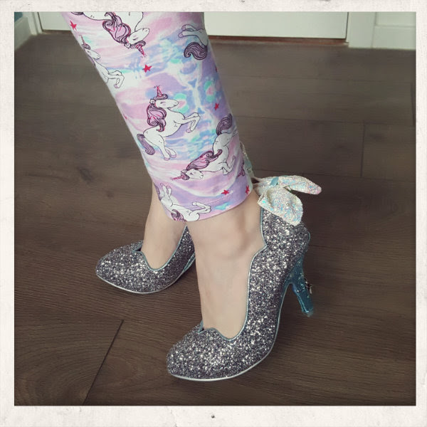 wearing irregular choice cinderella sparkling slipper glitter courts