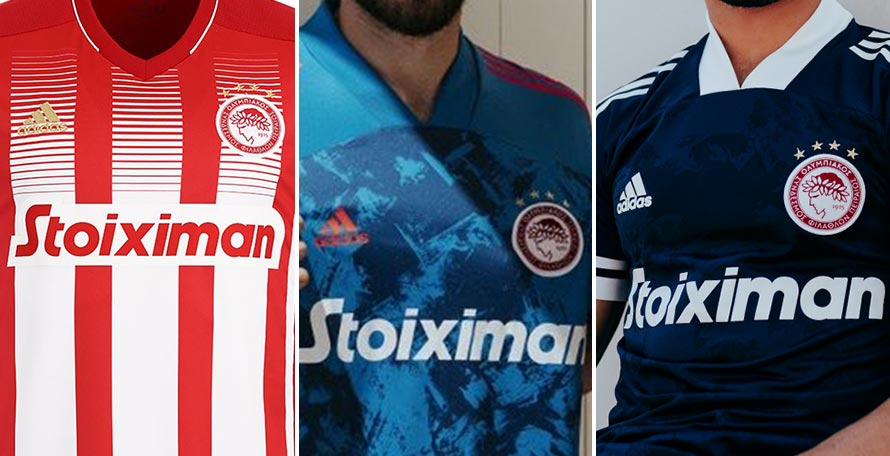 Olympiacos 20 21 Home Away Third Kits Revealed Footy Headlines