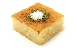 Sweet Semolina Cake (Revani)