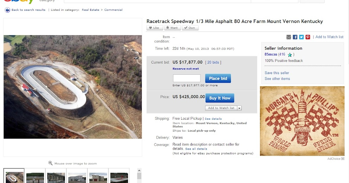 Ebay Watch Buy An 80 Acre Farm Race Track For The Price Of California Track Home
