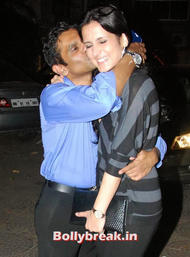 Captain Vikram kissing Tulip Joshi, Sohail Khan Diwali Bash