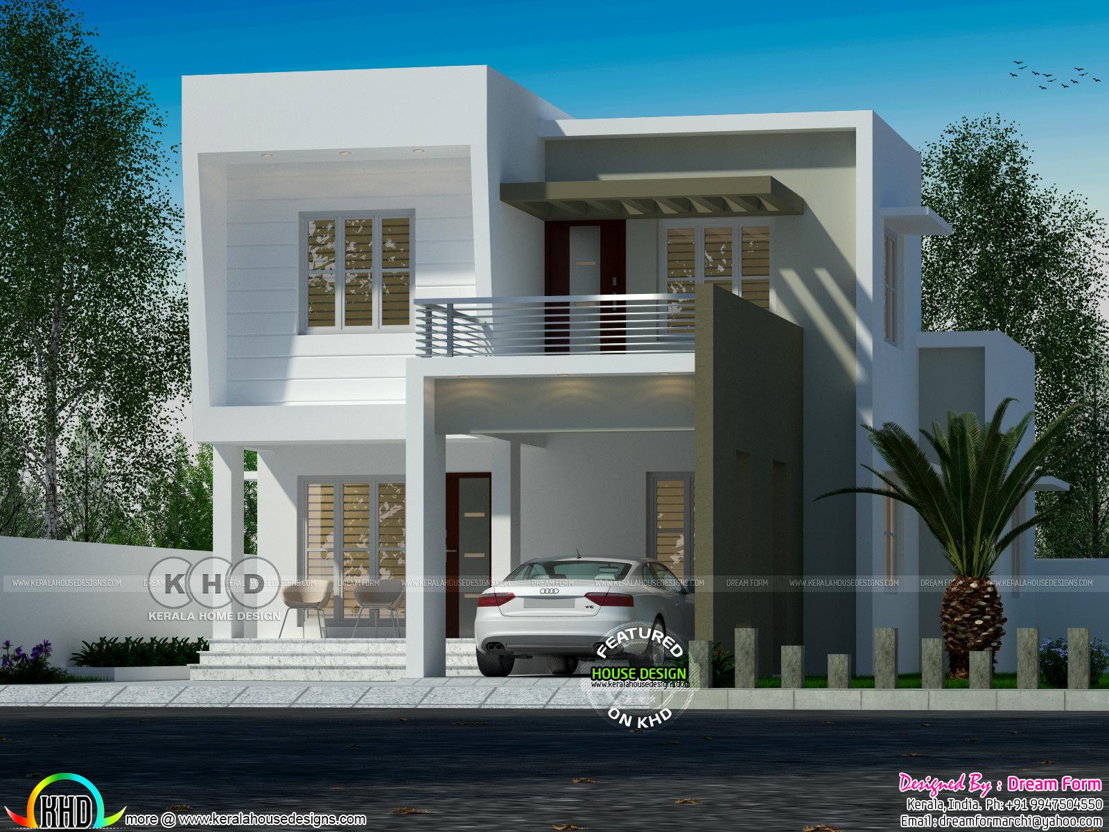 1528 Square Feet 3 Bedroom Flat Roof Home Kerala Home