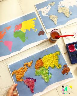Kıtalar Boyama şablonu
