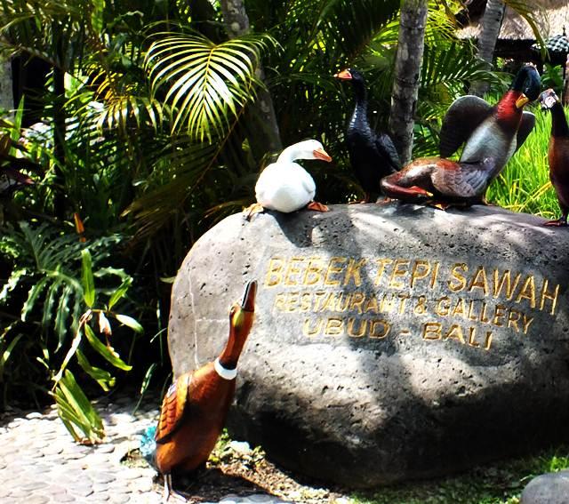 Sensasi Makan di Tepi Sawah ala Bebek Tepi Sawah Ubud, Bali