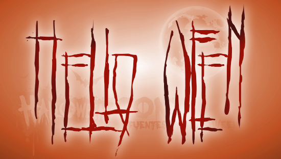 HELlO WEEN font de Halloween y terror