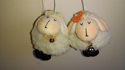artzete, artesanato porto alegre, enfeites, chaveiros de ovelhas
