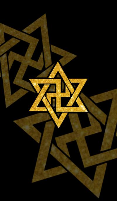 Hexagram & Manji