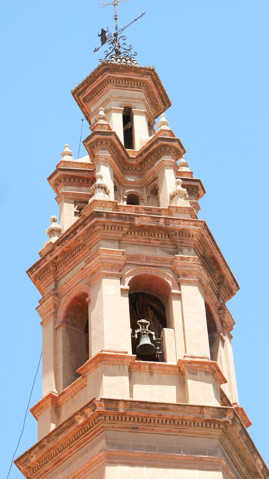 Church bell tower in Valencia Spain