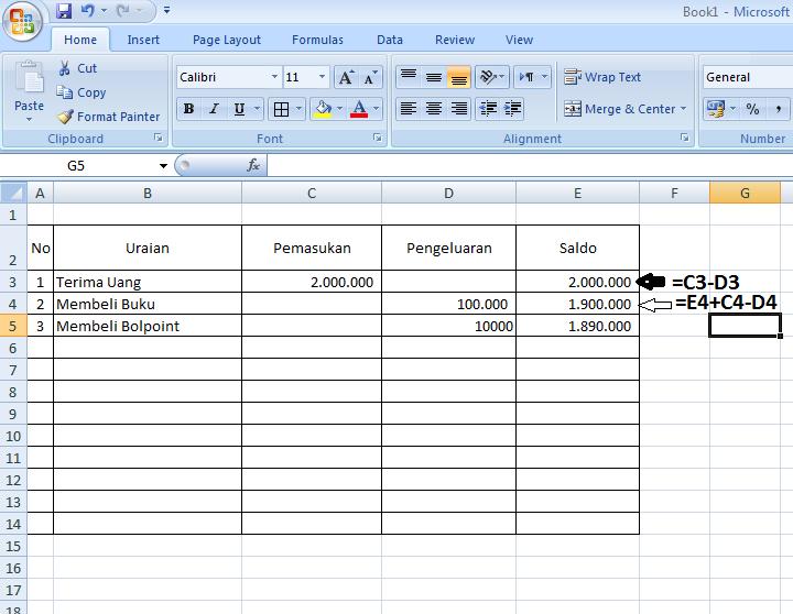 Contoh Laporan Pemasukan Dan Pengeluaran Excel Seputar Laporan