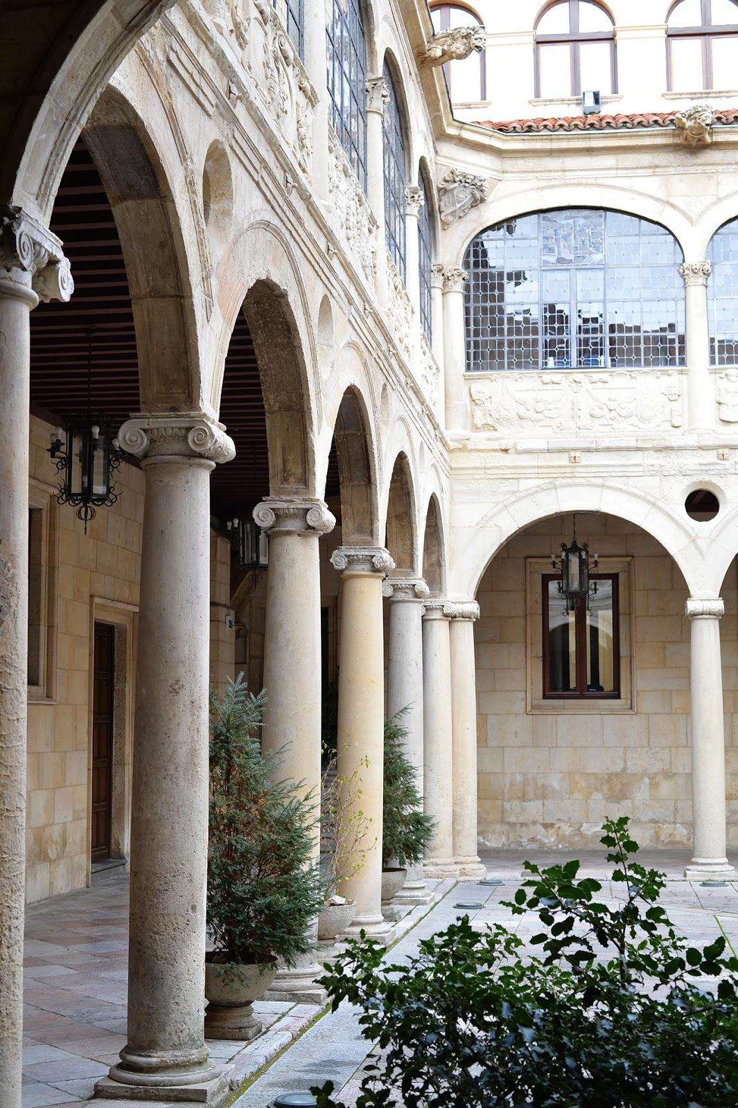 palacio guzmanes patio leon spain