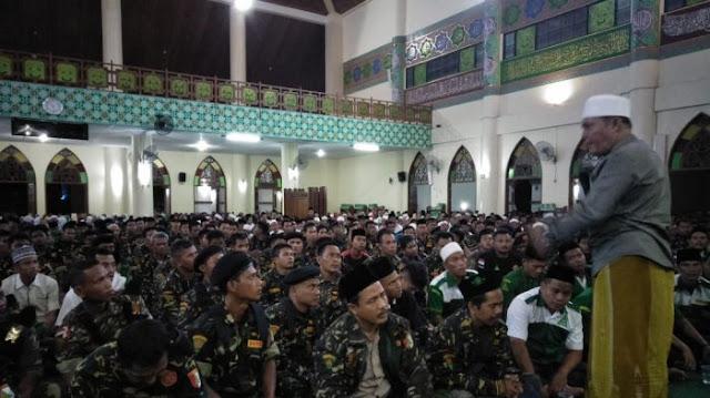 Peringati Haul Sultan Siak, Ribuan Anggota Banser Gelar Zikir di Islamic Center Riau