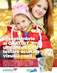 Consult ORL si testare acuitate vizuala copii - GRATUIT