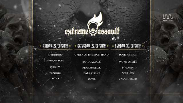 Extreme Assault Festival Vol V: 28, 29 και 30 Σεπτεμβρίου @ Wave Athens