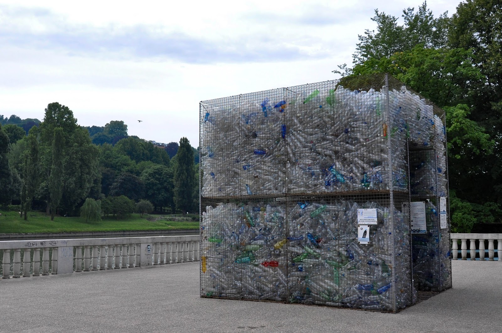 In-Cubo - an eco art installation in Parco Valentino, Turin, Italy