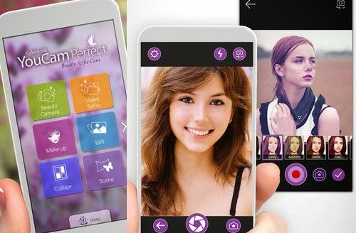 Foto selfie aplikasi youcam perfect