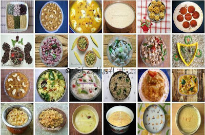 MENU IDEAS FOR NINE DAYS OF NAVARATHRI FESTIVAL: NINE SUNDALS, NINE RICE VARIETIES, NINE PAYASAMS