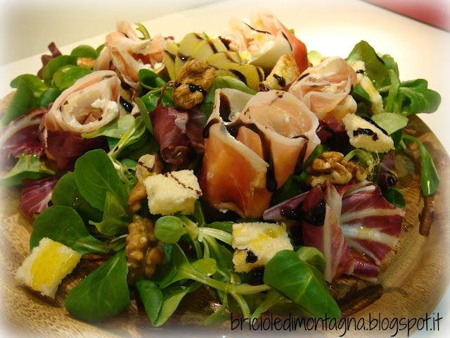 Briciole di montagna insalatina tirolese croccante con for Insalata da taglio