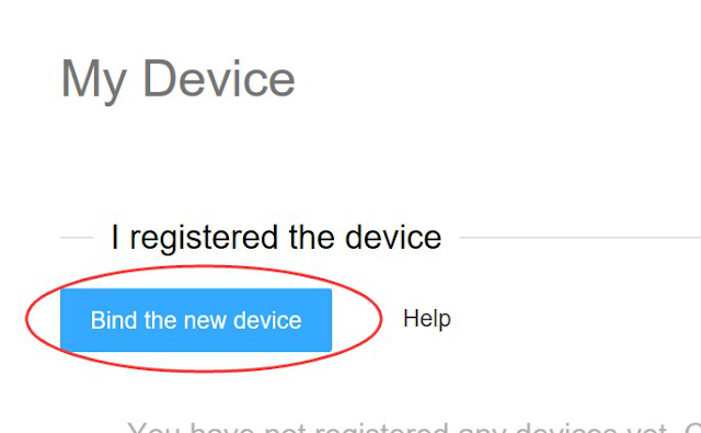 Bind-the-new-device