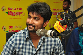 Nani at Radio Mirchi ,majnu movie promotions