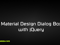 Material Design Dialog Box with jQuery