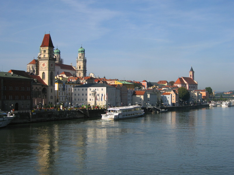 ... to have fell in the icy waters of River Inn in Passau, Germany