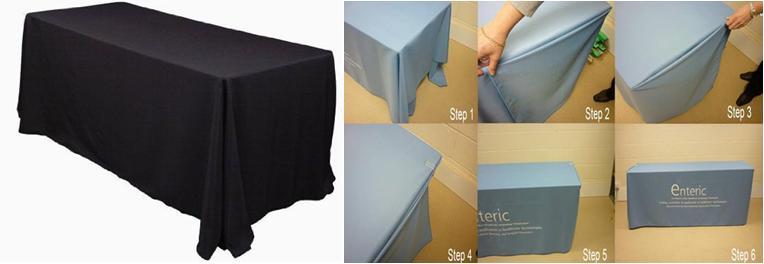 ผ้าปูโต๊ะจัดเลี้ยง ผ้าปูโต๊ะสัมมนา ผ้าปูโต๊ะประชุม ( แบบเย็บพับริมผ้าปูโต๊ะ )
