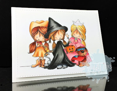 Tiddly Inks, Kecia Waters, Copic markers, Halloween