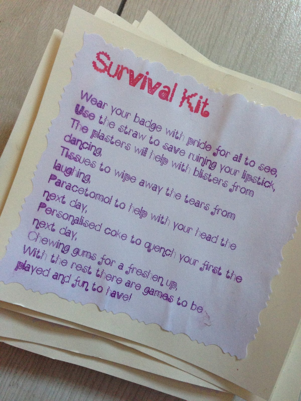 My Sister And I Decided To Put Together A Survival Kit For All Of The S We Included Bottle E With Their Names On They Don T Do Sa But