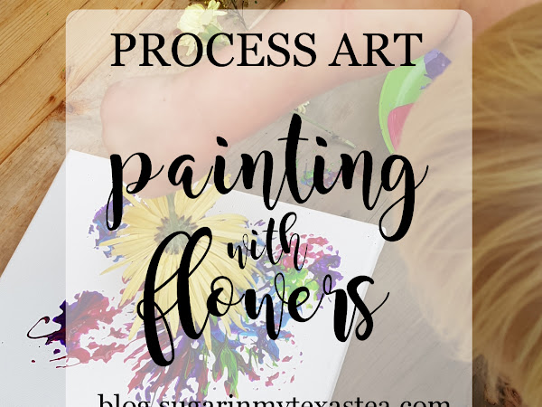 Process Art: Painting with Flowers