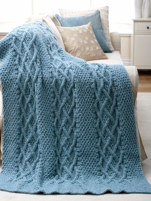 Cushy Cables Afghan - Free Pattern