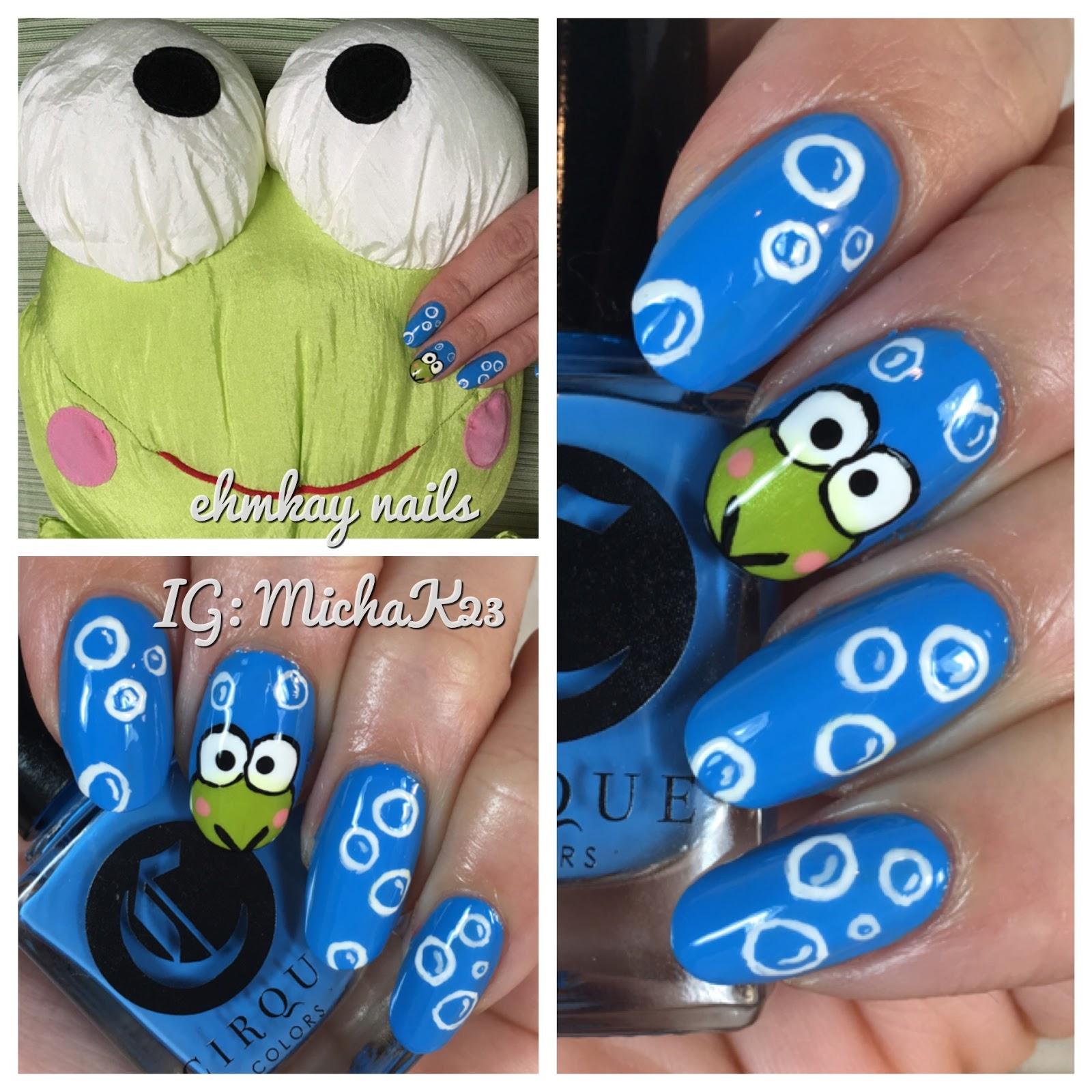 Ehmkay nails leap year leap frog nail art leap frog nail art prinsesfo Images