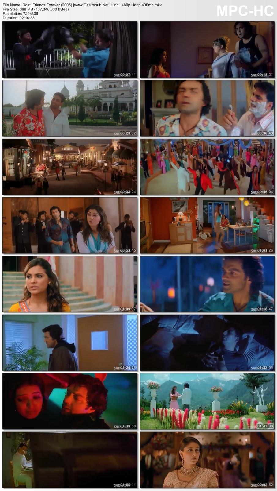 Dosti Friends Forever (2005) Hindi  480p Hdrip 400MB Desirehub