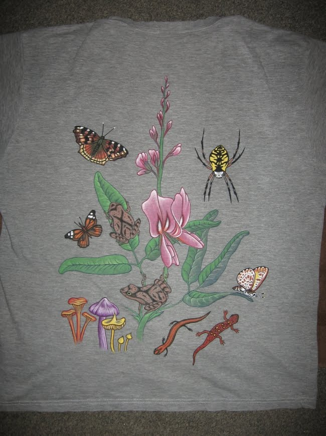 Tangled Web: Painting on Fabric     T-Shirt Art
