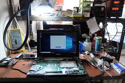 Service Laptop Asus x200ma mati total