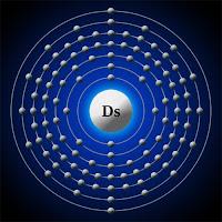 Darmstadtiyum atomu ve elektronları