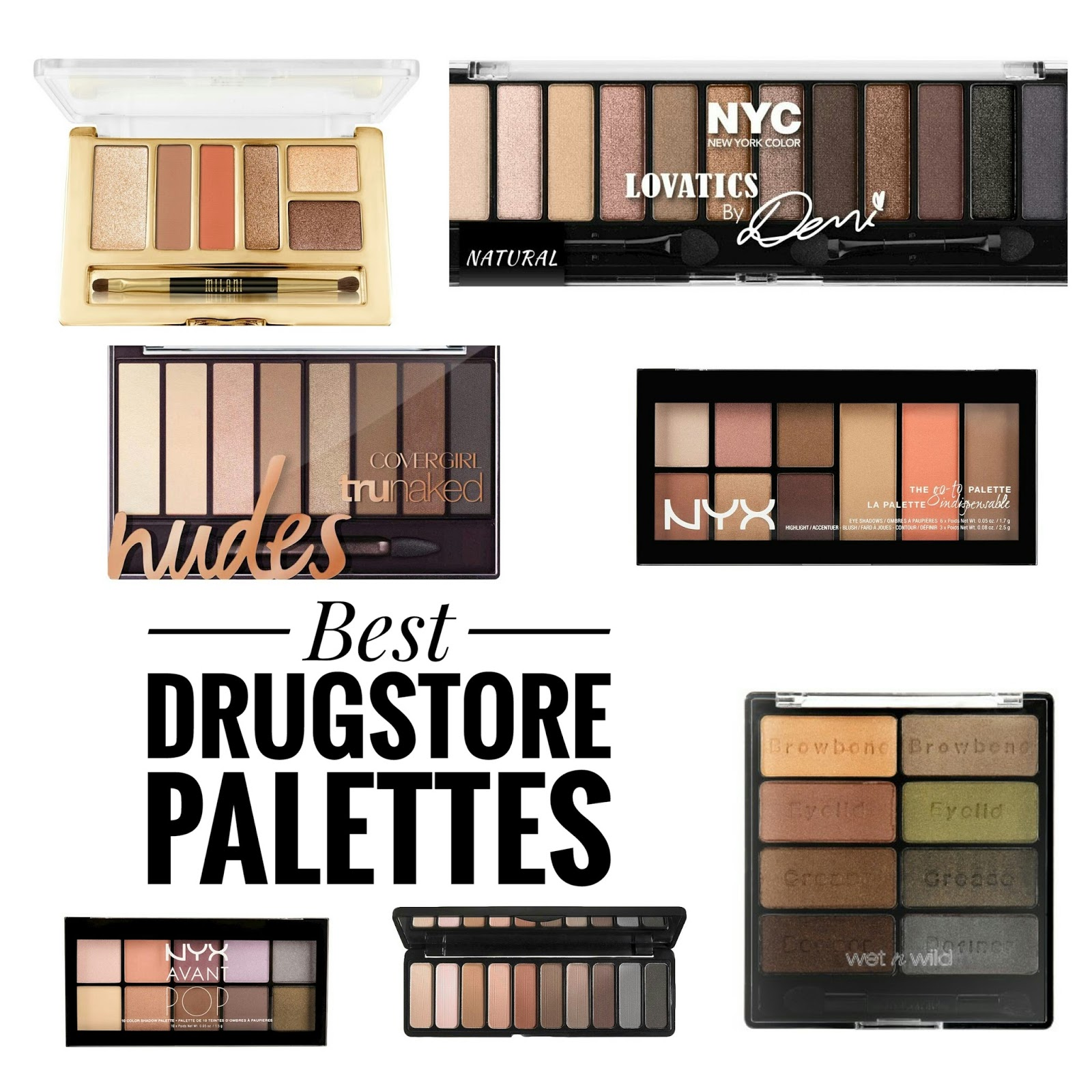The Best Drugstore Eyeshadow Palettes | The Budget Beauty Blog