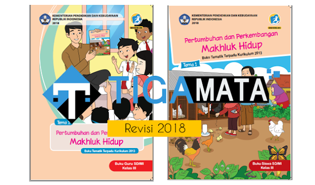 Download Buku K13 Kelas 3 SD Semester 1 Revisi 2018 Pdf